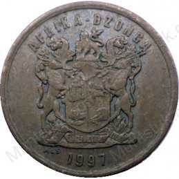 Five Cent, South Africa, 1997, Copper plated Steel