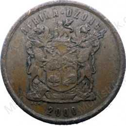 Five Cent, South Africa, 2000, Copper plated Steel