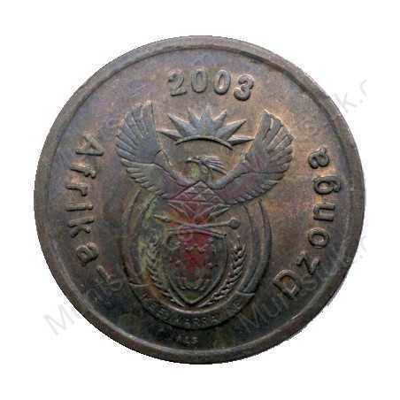 Five Cent, South Africa, 2003, Copper plated Steel