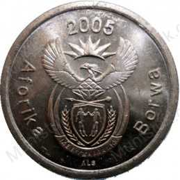 Five Cent, South Africa, 2005, Copper plated Steel