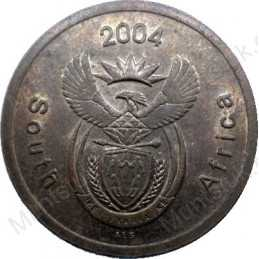 Five Cent, South Africa, 2004, Copper plated Steel