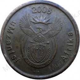 Five Cent, South Africa, 2008, Copper plated Steel