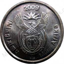 Five Cent, South Africa, 2009, Copper plated Steel