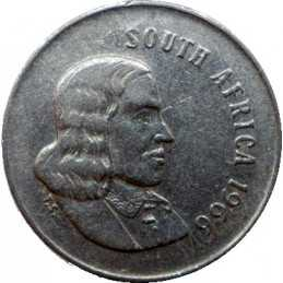 Five Cent(English), South Africa, 1966, Nickel
