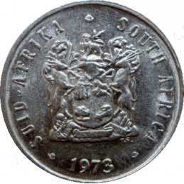 Five Cent, South Africa, 1973, Nickel