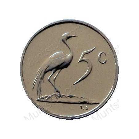 Five Cent, South Africa, 1975, Nickel