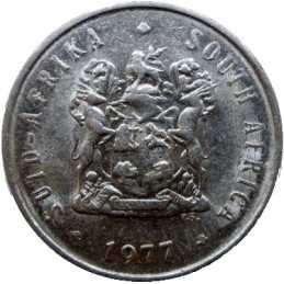 Five Cent, South Africa, 1977, Nickel