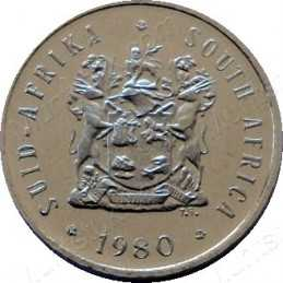 Five Cent, South Africa, 1980, Nickel