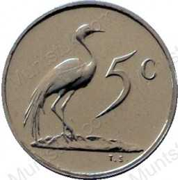 Five Cent, South Africa, 1986, Nickel