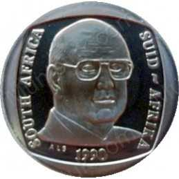 One Rand, South Africa, 1990, Nickel plated Copper