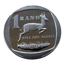 One Rand, South Africa, 1991, Nickel plated Copper