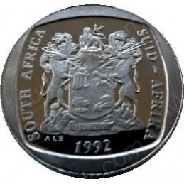 One Rand, South Africa, 1992, Nickel plated Copper