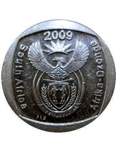 One Rand, South Africa, 2009, Nickel plated Copper