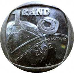 One Rand, South Africa, 2002, World Summit, Nickel plated Copper