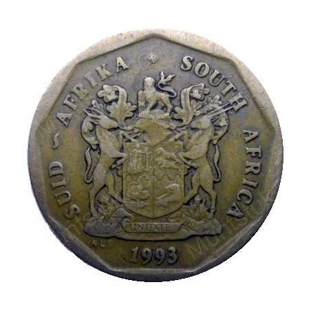 Fifty Cent, South Africa, 1993, Bronze plated Steel