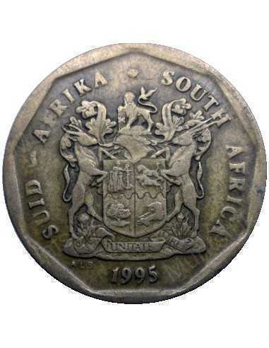Fifty Cent, South Africa, 1995, Bronze plated Steel