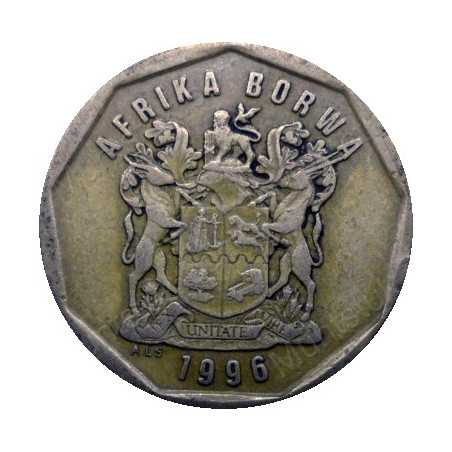 Fifty Cent, South Africa, 1996, Bronze plated Steel