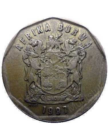 Fifty Cent, South Africa, 1997, Bronze plated Steel