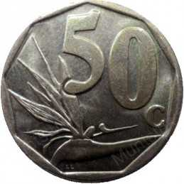 Fifty Cent, South Africa, 1999, Bronze plated Steel