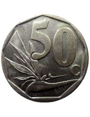 Fifty Cent, South Africa, 2000, Bronze plated Steel
