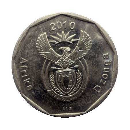Fifty Cent, South Africa, 2010, Bronze plated Steel