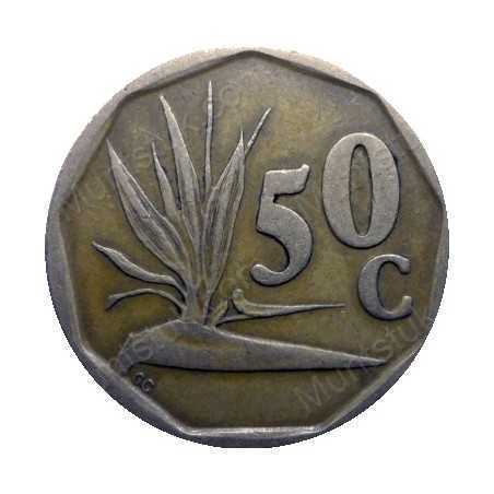 Fifty Cent, South Africa, 1991, Bronze plated Steel