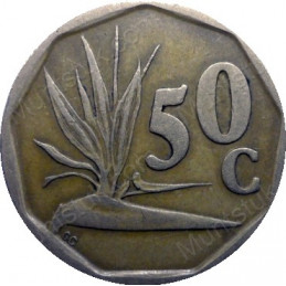 Fifty Cent, South Africa, 1992, Bronze plated Steel