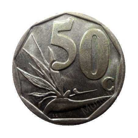 Fifty Cent, South Africa, 1998, Bronze plated Steel
