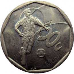 Fifty Cent, South Africa, 2002, Soccer, Bronze plated Steel
