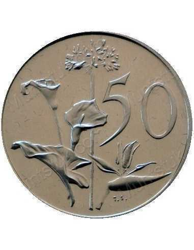 Fifty Cent(English), South Africa, 1965, Nickel