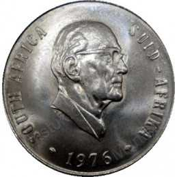 Fifty Cent, South Africa, 1976, Nickel