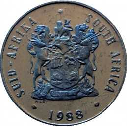Fifty Cent, South Africa, 1988, Nickel
