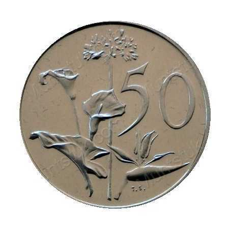 Fifty Cent(English), South Africa, 1966, Nickel