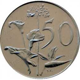 Fifty Cent, South Africa, 1990, Nickel
