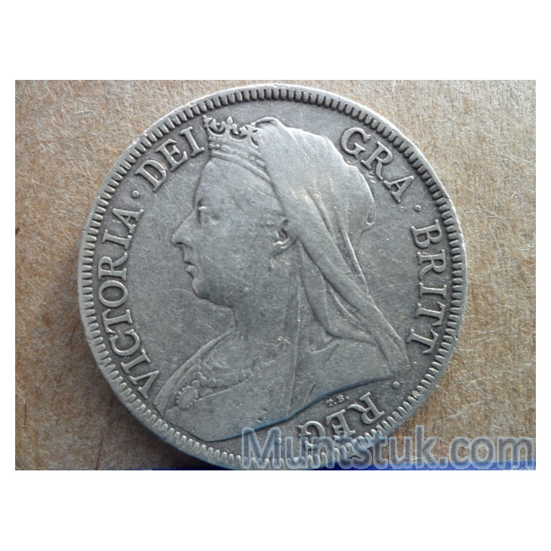 UK,Victoria Dei Gra Britt, 1898, Half Crown, Silver