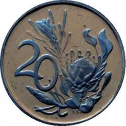 Twenty Cent, South Africa, 1971, NIckel