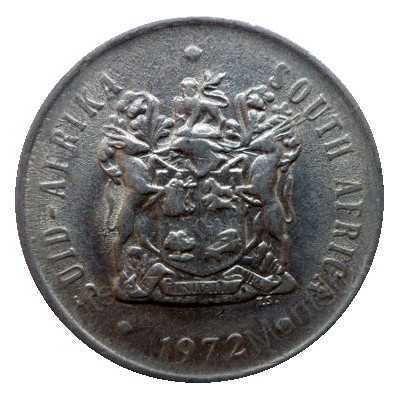 Twenty Cent, South Africa, 1972, Nickel