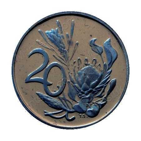 Twenty Cent, South Africa, 1987, Nickel