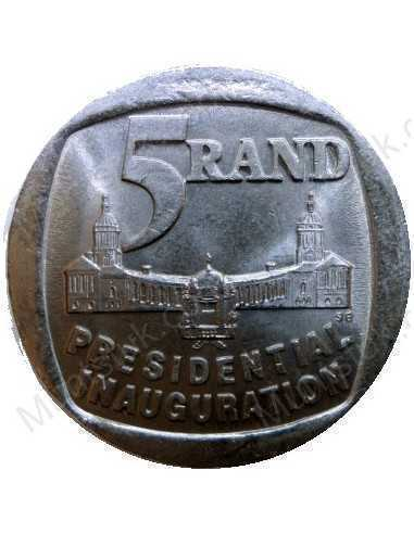 Five Rand, South Africa, 1994, Presidential Inauguration, Nickel plated Copper