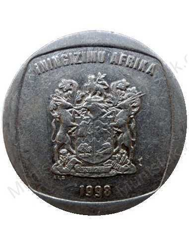 Five Rand, South Africa, 1998, Nickel plated Copper