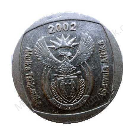 Five Rand, South Africa, 2002, Nickel plated Copper