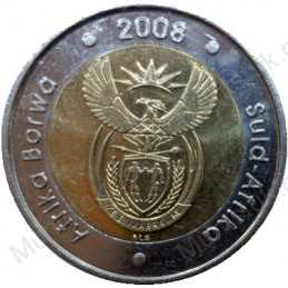 Five Rand, South Africa, 2008, Mandela 90, Bimetal *