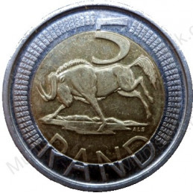 Five Rand, South Africa, 2005, Bimetal
