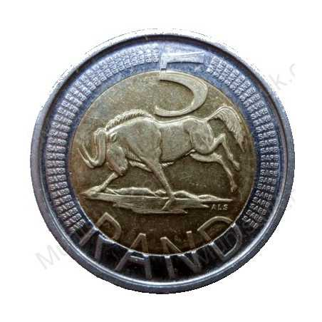 Five Rand, South Africa, 2006, Bimetal