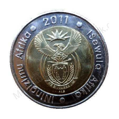 Five Rand, South Africa, 2011, 90th Anniversary, Bimetal