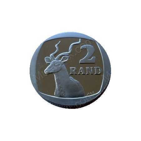 Two Rand, South Africa, 1990, Nickel plated Copper