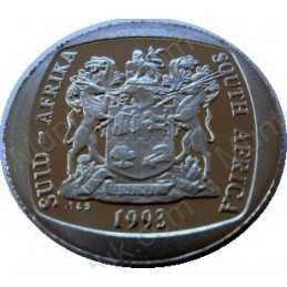 Two Rand, South Africa, 1993, Nickel plated Copper
