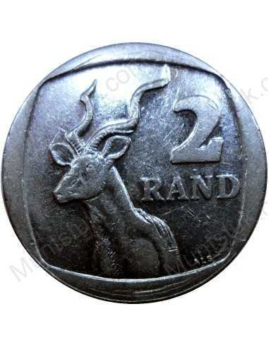 Two Rand, South Africa, 1995, Nickel plated Copper