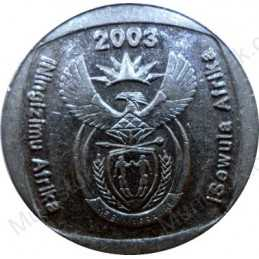 Two Rand, South Africa, 2003, Nickel plated Copper