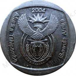 Two Rand, South Africa, 2004, 10 Years, Nickel plated Copper